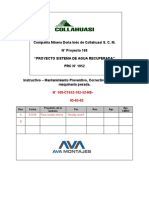 Instructivo – Mantenimiento Preventivo, Correctivo a equipos y maquinaria pesada.