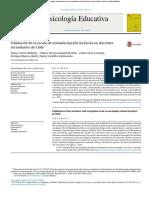 Validación de la escala de autoadscripción inclusiva en docentes secundarios de Chile?