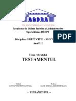 REFERAT - Succesiuni - Testamentul