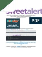Uso de SWEETALERT2