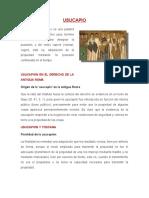 Derecho Romano - Usucapio