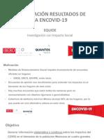 PRESENTACIÓN RESULTADOS DE LA ENCOVID-19