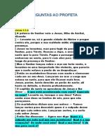 SETE PERGUNTAS AO PROFETA JONAS