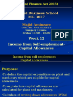 MG 3027 TAXATION -Week 12 Income From Self-employment-Capital Allowances