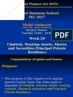 MG 3027 TAXATION -Week 20 Chattels ,Wasting Assets,Shares & Securities , PPR