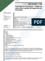 ABNT NBR 17799 - Tecnologia Da Informacao - Codigo de Pratica Para a Gestao Da Seguranca Da Informacao