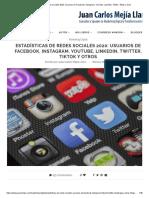 Estadísticas de redes sociales 2020_ Usuarios de Facebook, Instagram, YouTube, LinkedIn, Twitter, Tiktok y otros.pdf