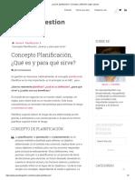 ¿Qué es planificación_, Concepto y definición según autores