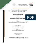 RESUMEN RECUPERACION DE CONDENSADO
