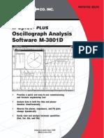 Oscillograph Analysis Software M-3801D-SP