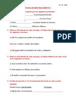 FICHA REFUERZO - ESTRUCTURA DEL PREDICADO- QUINTO GRADO