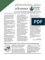 July-August 2010 Roadrunner Newsletter, Kern-Kaweah Sierrra Club