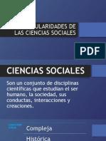 PARTICULARIDADES DE LAS CIENCIAS SOCIALES