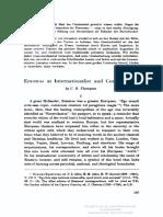 THOMPSON C. R.  Erasmus as Internationalist and Cosmopolitan - ARG 13 (1955)