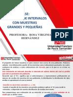 ESTIMACIÓN DE INTERVALOS DE CONFIANZA PARA MUESTRAS GRANDES Y PEQUEÑAS