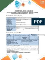 Guía de actividades y rúbrica de evaluación - Paso 3 - Preparar presupuestos para la planeación y el control.docx