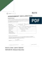 REGULATORY AGENCY REPORT.docx