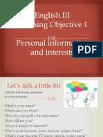 Aprendizaje Esperado 1  Inglés III.pptx