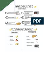 Receta Bananas con chocolate en pictos