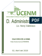 CAJA CHICA DE LA DAMA