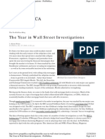 ProPublica, The Year in Wall Street Investigations