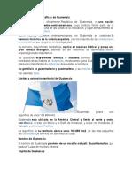 Características geográficas de Guatemala