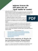 Los 23 mejores trucos de PowerPoint para ser un experto