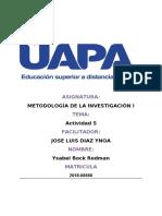 Metodología de La Investigación i.tarea 5. y....