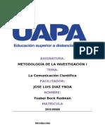 Metodología de La Investigación i.tarea 2. y....