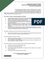 Requisitos para cambio de nombre en un contrato de energía Eléctrica
