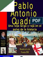 UNA RAYA LARGA Y ROJA EN EL POLVO DE LA HISTORIA, POR PABLO ANTONIO CUADRA, NICARAGUA