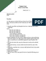 shoo fly singing game pdf