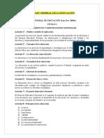 resumen Ley general de la educacion