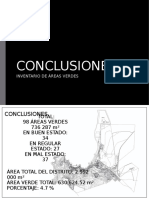CONCLUSIONES - ÁREAS VERDES