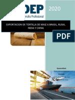 exportacion de Tortillas