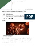 COVID-19 coronavirus epidemic has a natural origin -- ScienceDaily.pdf