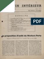 Bulletin du secrétariat européen de la IVe Internationale, Vol. 1, n° 1, mai 1946.