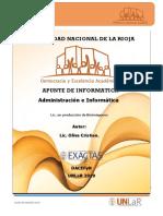 Apunte Administracion e Informatica - Informatica