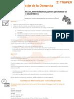 INSTRUCCIONES PRUEBAS PLANEACION DE LA DEMANDA