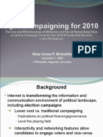 Cybercampaigning in the Philippine Presidential Elections 2010