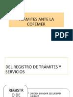 TRÁMITES ANTE LA COFEMER
