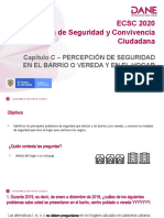 Capítulo C_ PERCEPCIÓN DE SEGURIDAD EN EL BARRIO O VEREDA Y EN EL HOGAR