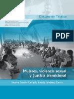 MUJERES, VIOLENCIA SEXUAL Y JUSTICIA TRANSICIONAL
