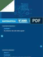 8º Ano EF Matemática - Aula 2