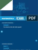 8º Ano EF Matemática - Aula 4