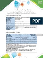 Guía de actividades y rúbrica de evaluación - Etapa 3 - Definir el objetivo, alcance del ACV y análisis del inventario