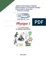 Benhalima Nadia -Cours de Physique1-2019-2020