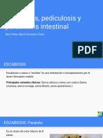Pediculosis, escabiosis y parasitosis intestinal