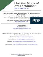 L. W. Hurtado_The Gospel of Mark_Evolutionary or Revolutionary Document
