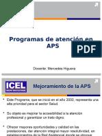Programas de atención en APS
